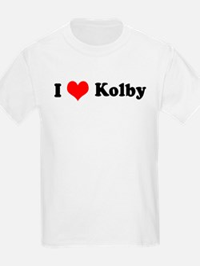 I Love Kolby Kids T-Shirt