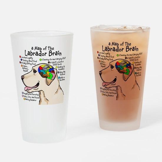 Yellow Labrador Brain Atlas Drinking Glass