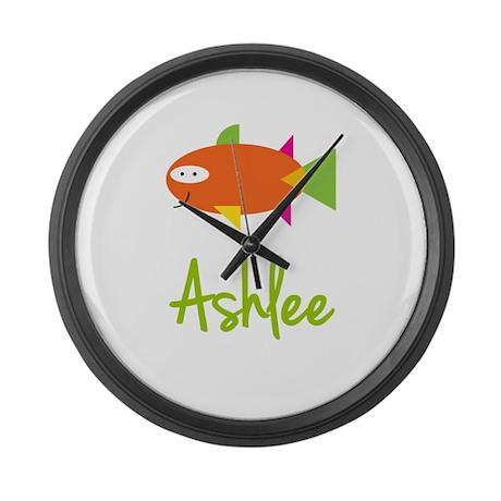 Ashlee is a Big Fish Large Wall Clock