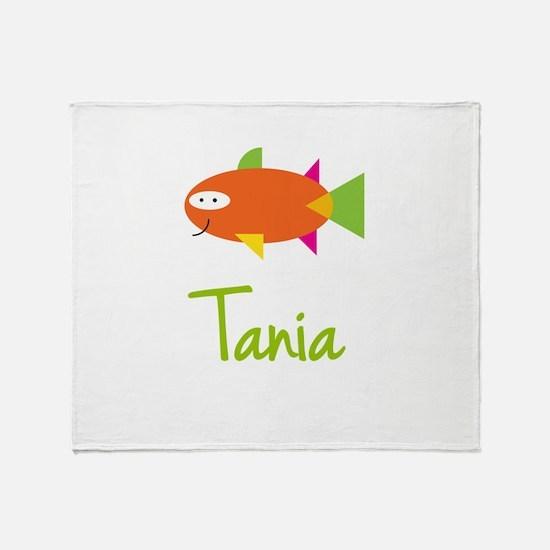 Tania is a Big Fish Throw Blanket