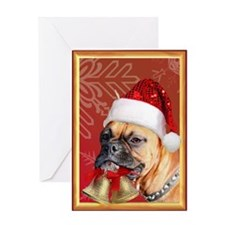 Christmas boxer dog Greeting Card