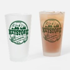 Keystone Old Circle 2 Green Drinking Glass