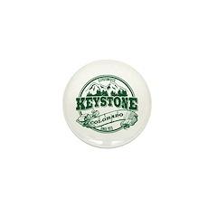 Keystone Old Circle 3 Green Mini Button