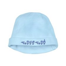 Heather-bl baby hat