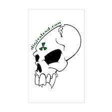 Skull Rectangle Decal