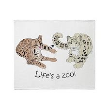 Ocelot/Snow Leopard Throw Blanket