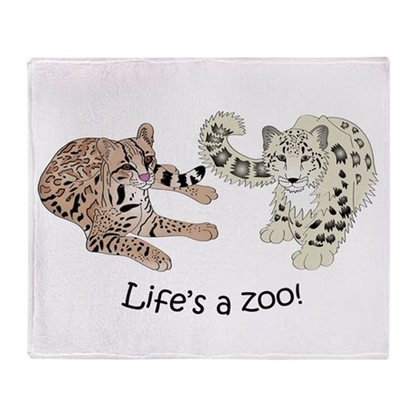 Ocelot/Snow Leopard Throw Blanket