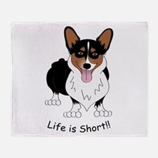 Tri-Colored Corgi Throw Blanket