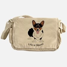 Tri-Colored Corgi Messenger Bag
