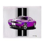 New Dodge Challenger Throw Blanket