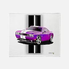 New Dodge Challenger Throw Blanket