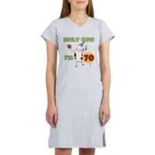 Cow 70th Birthday Women's Nightshirt