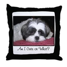 Cute Shih Tzu Dog Throw Pillow