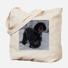 Puppy in a Snowstorm Tote Bag