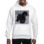 Puppy in a Snowstorm Hooded Sweatshirt