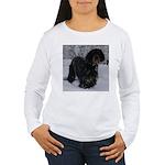 Puppy in a Snowstorm Women's Long Sleeve T-Shirt