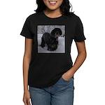 Puppy in a Snowstorm Women's Dark T-Shirt