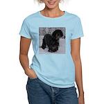 Puppy in a Snowstorm Women's Light T-Shirt