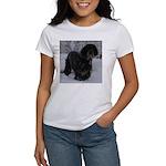 Puppy in a Snowstorm Women's T-Shirt