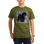 Puppy in a Snowstorm Organic Men's T-Shirt (dark)