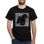 Puppy in a Snowstorm Dark T-Shirt
