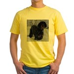 Puppy in a Snowstorm Yellow T-Shirt