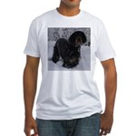 Puppy in a Snowstorm Fitted T-Shirt