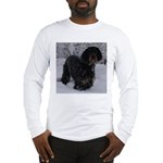 Puppy in a Snowstorm Long Sleeve T-Shirt
