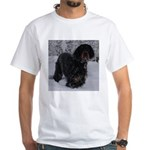 Puppy in a Snowstorm White T-Shirt