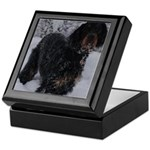 Puppy in a Snowstorm Keepsake Box