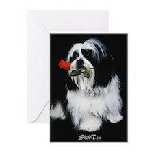 Shih Tzu Dog Greeting Cards (Pk of 10)