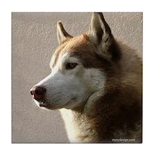 Siberian Husky Dog Tile Coaster