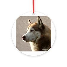 Siberian Husky Dog Keepsake Ornament (Round)