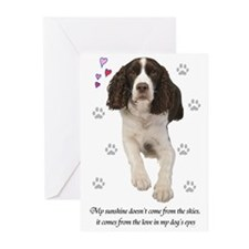 English Springer Spaniel Greeting Cards (Package o