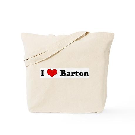 I Love Barton Tote Bag