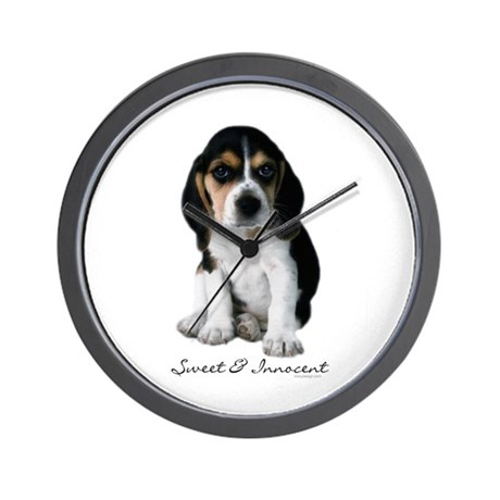 Beagle Puppy Dog Wall Clock