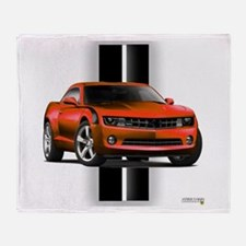 New Camaro Red Throw Blanket