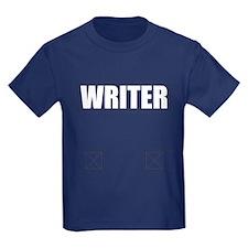 Writer Bullet-Proof Vest Kids Dark T-Shirt