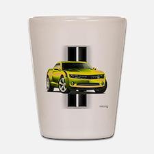 New Camaro Yellow Shot Glass