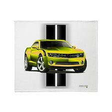 New Camaro Yellow Throw Blanket