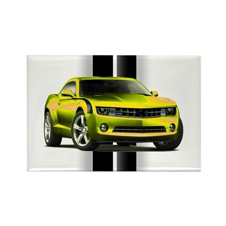 New Camaro Yellow Rectangle Magnet