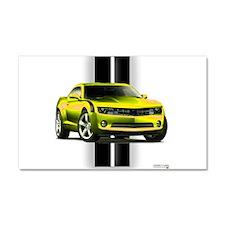 New Camaro Yellow Car Magnet 20 x 12