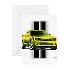 New Camaro Yellow Greeting Card
