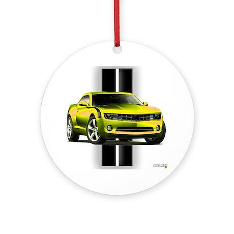 New Camaro Yellow Ornament (Round)