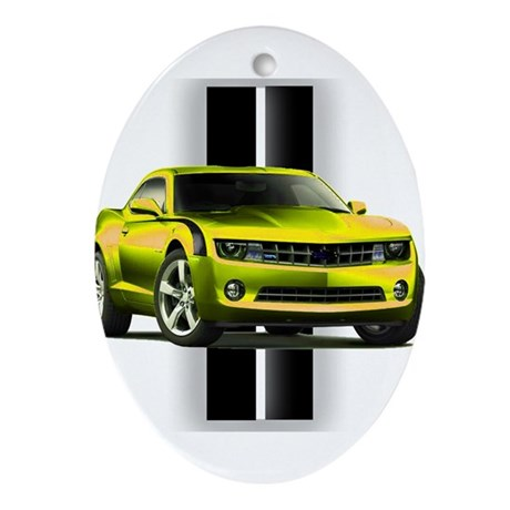 New Camaro Yellow Ornament (Oval)