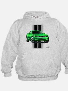 New Camaro Green Hoodie