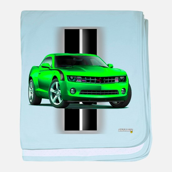 New Camaro Green baby blanket
