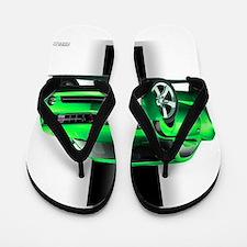 New Camaro Green Flip Flops