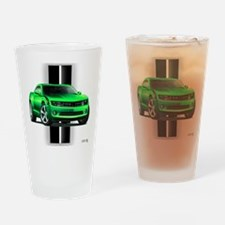 New Camaro Green Drinking Glass