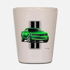 New Camaro Green Shot Glass